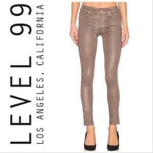 Level 99 NWT Janice Ultra Skinny Bronze Metallic